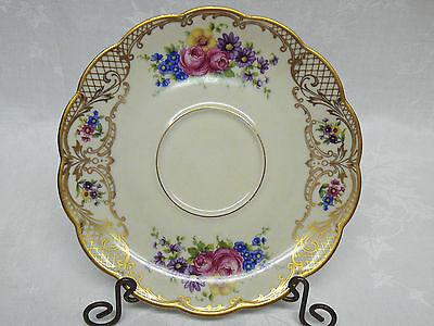 Royal Bayreuth Bavaria THE ROSALIE Odd Saucer 6-3/8""