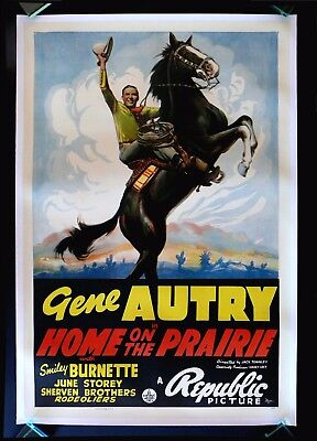 HOME ON THE PRAIRIE * CineMasterpieces MOVIE POSTER GENE AUTRY WESTERN HORSE