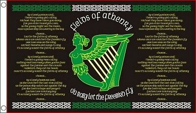 FIELDS of ATHENRY FLAG 5' x 3' Irish Ireland Eire Erin Go Bragh