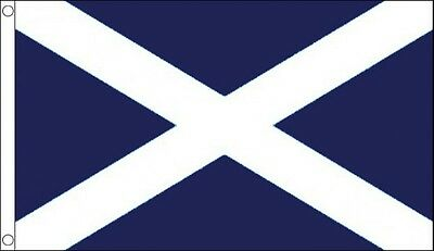ST ANDREWS FLAG 5' x 3' Dark Blue Saltire Cross Scotland Scottish Saint Andrew