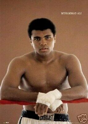 MUHAMMAD ALI POSTER GREATEST Boxing RARE 24X36 Color