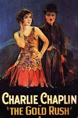 THE GOLD RUSH MOVIE POSTER Charlie Chaplin VINTAGE 3