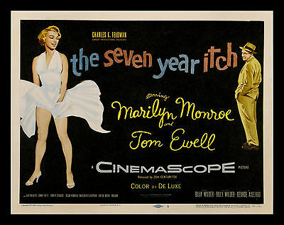 SEVEN YEAR ITCH * CineMasterpieces MOVIE POSTER LOBBY CARD MARILYN MONROE