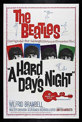 A HARD DAY'S DAYS NIGHT CineMasterpieces ORIGINAL MOVIE POSTER NM-M THE BEATLES