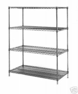 NEW COMMERCIAL KITCHEN CHROME WIRE SHELVES- 21 X 48