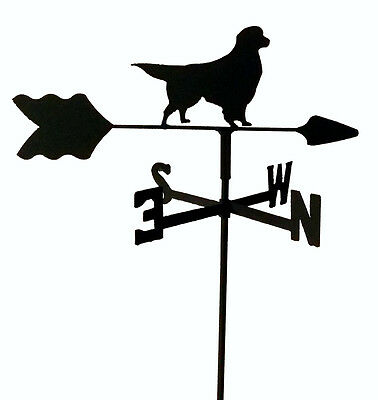Golden Retriever Garden Style Weathervane Wrought Iron Look Made In Usa Tls1024I