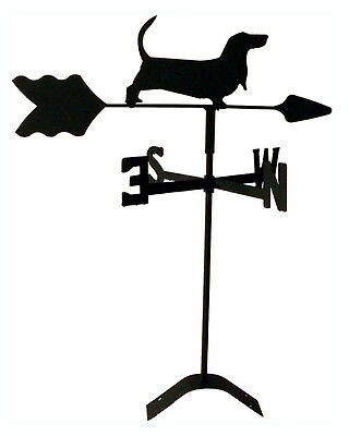 basset hound  weathervane black wrought iron look roof mount made in usa TLS1004