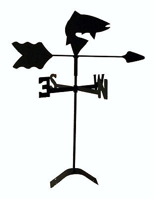 fish weathervane black wrought iron look roof mount made in usaTLS1018RM