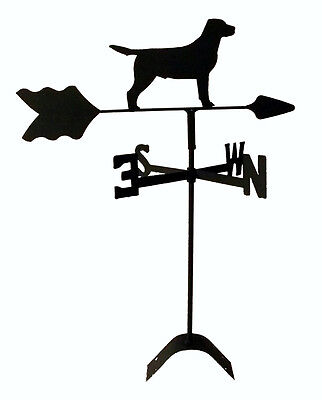 labrador retriever roof mount weathervane wrought iron look made in usa TLS1029