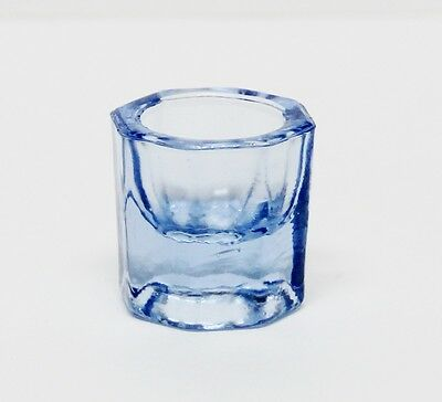 Glass Dappen Dish - Blue Acrylic Liquid Holder Container Dental Cosmetology Art
