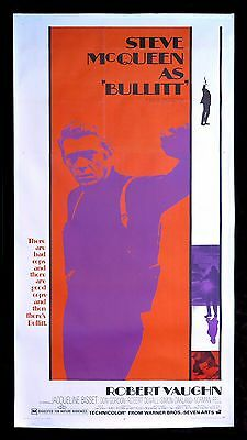 BULLITT ✯ CineMasterpieces ORIGINAL MOVIE POSTER CAR RACING STEVE MCQUEEN 1969