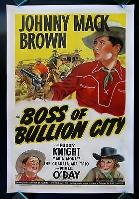BOSS OF BULLION CITY * CINEMASTERPIECES MOVIE POSTER WESTERN COWBOY GOLD SILVER