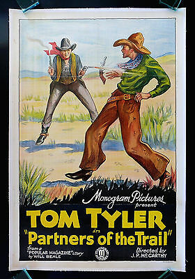 PARTNERS OF THE TRAIL * CineMasterpieces ORIGINAL MOVIE POSTER WESTERN COWBOY
