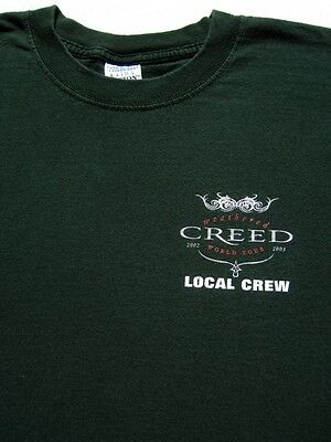 CREED weathered 2002-2003 tour LOCAL CREW size XL T-SHIRT concert