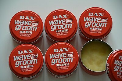 6 x DAX WAX  WAVE and GROOM Hair Dress Made Especially For Short Hair   - ROT