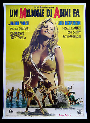 ONE MILLION YEARS BC * CineMasterpieces ITALIAN MOVIE POSTER RAQUEL WELCH