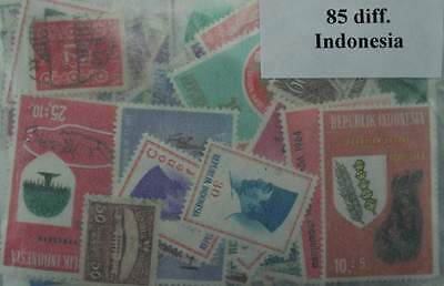 INDONESIA Stamps Collection - 85 Different Stamps