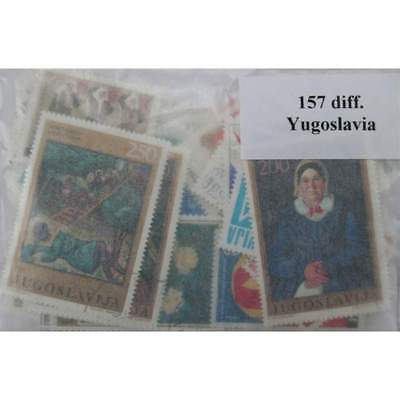 YUGOSLAVIA  Stamps Collection - 157 Different Stamps