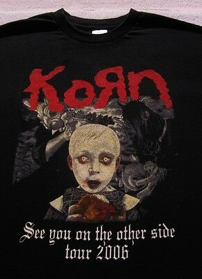 KORN see you on other side 2006 tour XL concert T-SHIRT