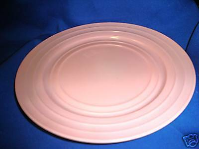 Hazel Atlas Moderntone Platonite Pink Dinner Plate