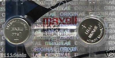 2-Maxell A76 LR44 AG13 Alkaline  Batteries, Ships from USA,    Exp.12/2022
