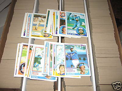 (10) 1983 Topps Lot - YOU PICK - FINISH YOUR SET - NMMT