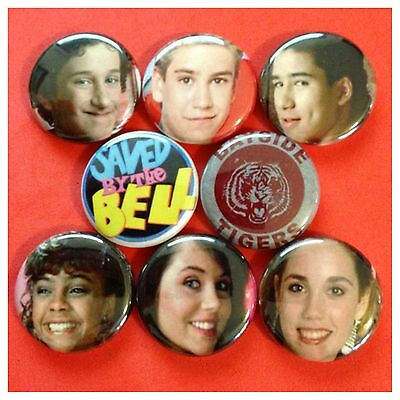 """SAVED BY THE BELL 1"""" buttons badges ZACH MORRIS BAYSIDE"""