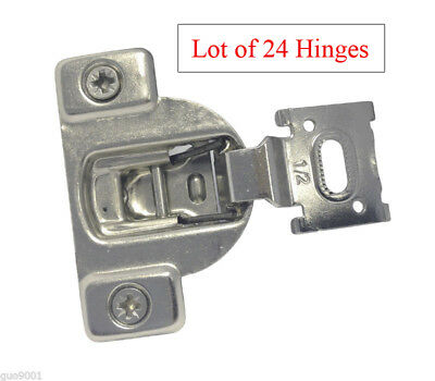 """24 Face Frame Nickel Cabinet Hinges Euro Concealed 1/2"""" Open 110 Degree 35mm Cup"""
