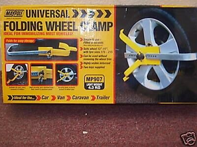 "Universal Folding  Wheel Clamp Suits Wheel 13"" To 15"""
