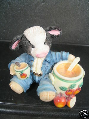 Enesco Mary's Moo Moos SWEET WARM and WONDERFUL Cow Hot Apple Cider