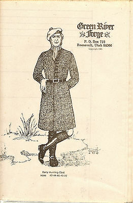 Green River Forge Hunting Coat Pattern Out Of Print