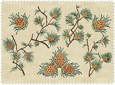 """ABC Designs 6 Evergreen Forest Machine Embroidery Designs Set for 5""""x7"""" Hoop"""