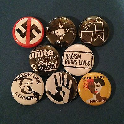 """ANTI RACISM 1"""" buttons badge PEACE EQUAL RIGHTS PROTEST"""
