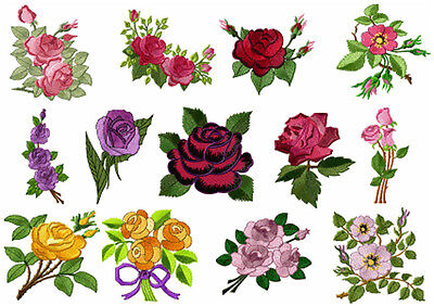 ABC Designs 13 Roses Heaven Machine Embroidery Designs Set 4x4 Hoop