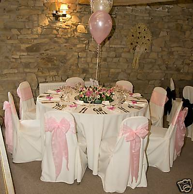 50 Chair Covers White Polyester Wedding  For Sale New