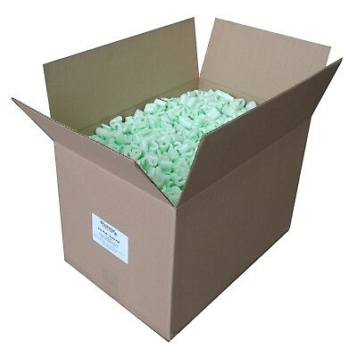 "Flo Pak Green Void Fill / Packing Peanuts 18"" x 12"" x 12"" (1.5 cuft) Boxed"
