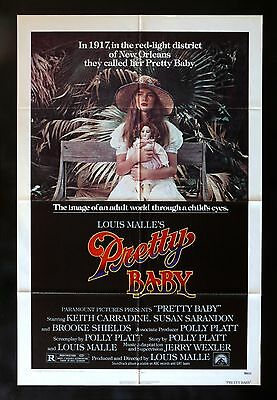 PRETTY BABY * 1SH ORIG MOVIE POSTER BROOKE SHIELDS 1978