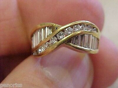BEAUTIFUL 1.50ctw ESTATE DIAMOND RING SIZE 3   MAKE OFFER