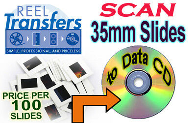 500-1000  35mm slides scanned to disc (*Price per 100*)