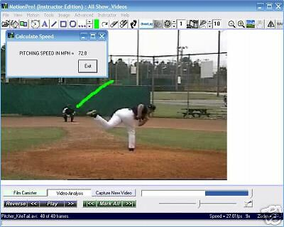 Motionpro! Baseball/softball Software Instructor