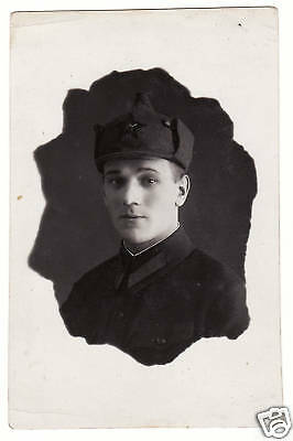 Soviet RUSSIA 1938 Red Army Brave Soldier Buddenovka Signed Real Photo