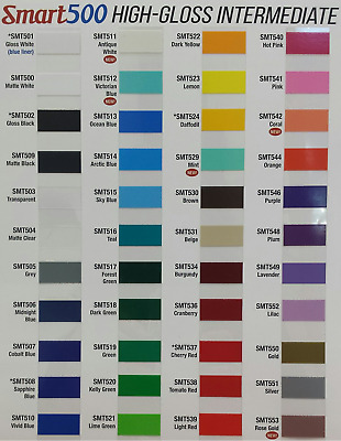 "24"" x 10yd SMT500 HI GLOSS 6 yr outdoor sign vinyl film craft hobby roll COLORS!"
