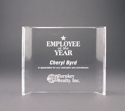 """New Personalized Recognition Clear Acrylic Plaque 6""""x8"""""""