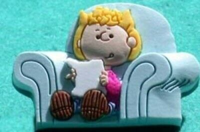 Peanuts Sally Reading In Her Chair Pin