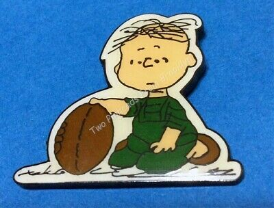 Peanuts Rerun With Football Vintage Pin