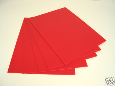 """18"""" x 24"""" RED corrugated plastic yard bandit road side sign blank 50/CASE 4mm"""