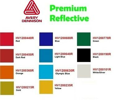 "15""  PREMIUM AVERY REFLECTIVE Sign Vinyl by the yard U PICK!"