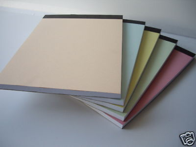 Plain White Paper Notepads With Pastel Covers  A6 Pack Of 20