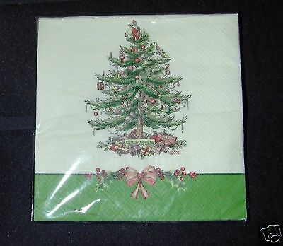 Spode Holly Border 16 3-Ply Luncheon  Paper Napkins-New