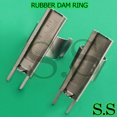 5 Endodontic Rubber Dam Ring With Scale Dental Instrume